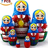 MATRYOSHKA&HANDICRAFT Matryoshka Nesting Dolls Hospitable housewife Set 7 pcs Unique Housewarming Gifts for New Home