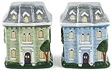 Grant Howard Ceramic Victorian Houses Salt and Pepper Shaker Set