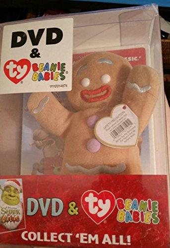 SHREK THE HALLS- DVD & TY BEANIE BABIES- GINGERBREAD MAN (Gingerbreadman Shrek)