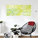 Liguo88 Custom canvas Country Decor Dragonfly Silhouettes Over Round Ethnic Mandala Circles Oriental Inspired Complex Print Bedroom Living Room Decor Avocado Green