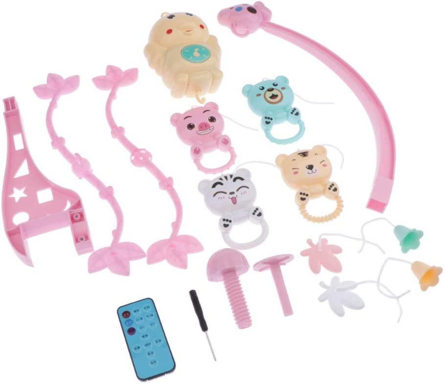 39.5x16.6x9cm Nursery Crib Mobile Animals Baby Shower Gift Toygogo Baby Remote Control Music Mobile for Girls Boys Blue