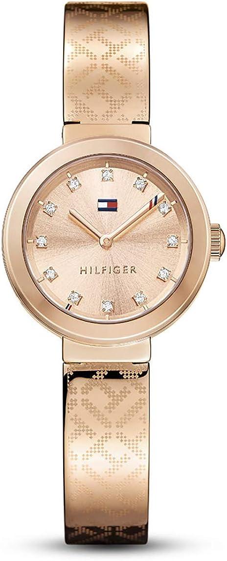 Reloj analógico para mujer Tommy Hilfiger 1781715, mecanismo de cuarzo, diseño clásico, correa de oro rosa.