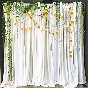 252Ft Artificial Vines, Artificial Leaf Garland Wild Jungle Decorative Greenery Fake Hanging Plants Ivy Garlands Flower Rustic Wreaths Accessory DIY Crafts for Home Wall Garden Wedding Party Decor 4