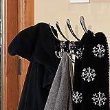 Dseap Coat Rack Wall Mounted - 5 Tri Hooks, Heavy