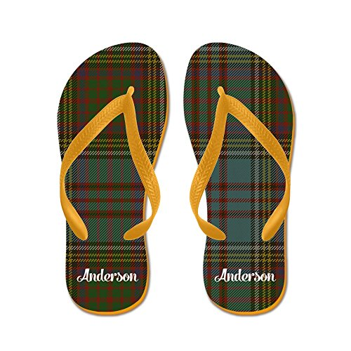 Cafepress Anderson Tartan - Tongs, Sandales String Étranges, Sandales De Plage Orange