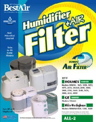 Best Air Humidifier & Air Filter Fits Holmes Hm850 , 1845 , 1850 , 1855 , 1975 , 2059 , 2060w by BestAir