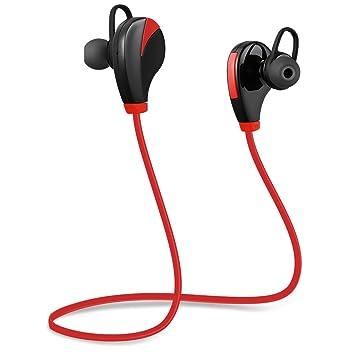 Auriculares Inalámbricos Inalámbricos Bluetooth 4.0 con Auriculares Deportivos con Sonido Estéreo para Micrófonos, Auriculares Ligeros