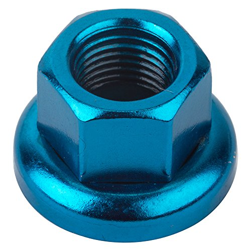 Origin8 Cr-Mo Hub Axle Nuts, M10 x 1.0, Blue Blue Axle