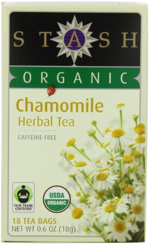 Stash Tea Company Organic Chamomile Herbal Tea, 18 Count Tea Bags in Foil (Sampler Stash Tea Organic)