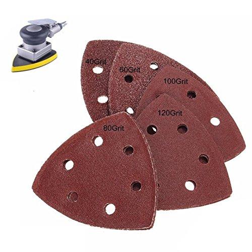 KINWAT 10Pcs 90mm Sanding Sheets Mouse Detail Sander Pads 40 60 80 100 120Grits
