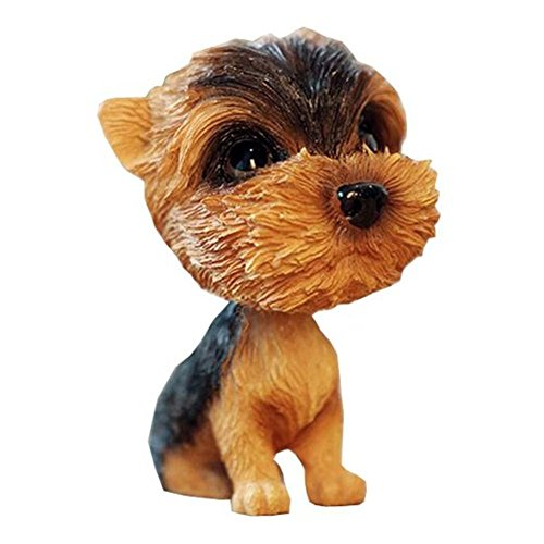 (Kangkang@ [Yorkshire Terrier] Bobbleheads Car Ornaments Resin Car Decoration,4.7x2.3'')