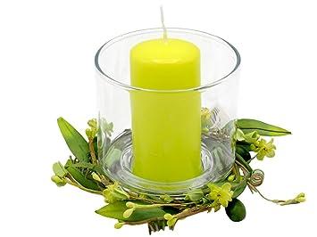 Kerze Glas Kerzenglas Kerzendeko Grun Fruhling Sommer Blumen