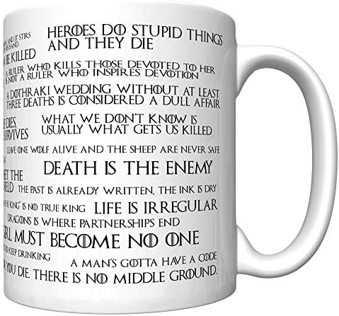 Lessons I Learned From Watching Game of Thrones (Old Edition) Coffee Mug [gotl] 6