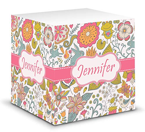 Wild Garden Sticky Note Cube (Personalized)