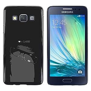 YiPhone /// Prima de resorte delgada de la cubierta del caso de Shell Armor - Cool Funny Nerd Geek My Glasses - Samsung Galaxy A3 SM-A300