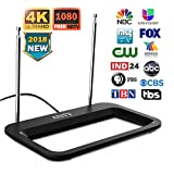 ANTV HDTV Antenna 35 Miles Range Multi-directional Digital Rabbit Ears Indoor for UHF/VHF;1080P