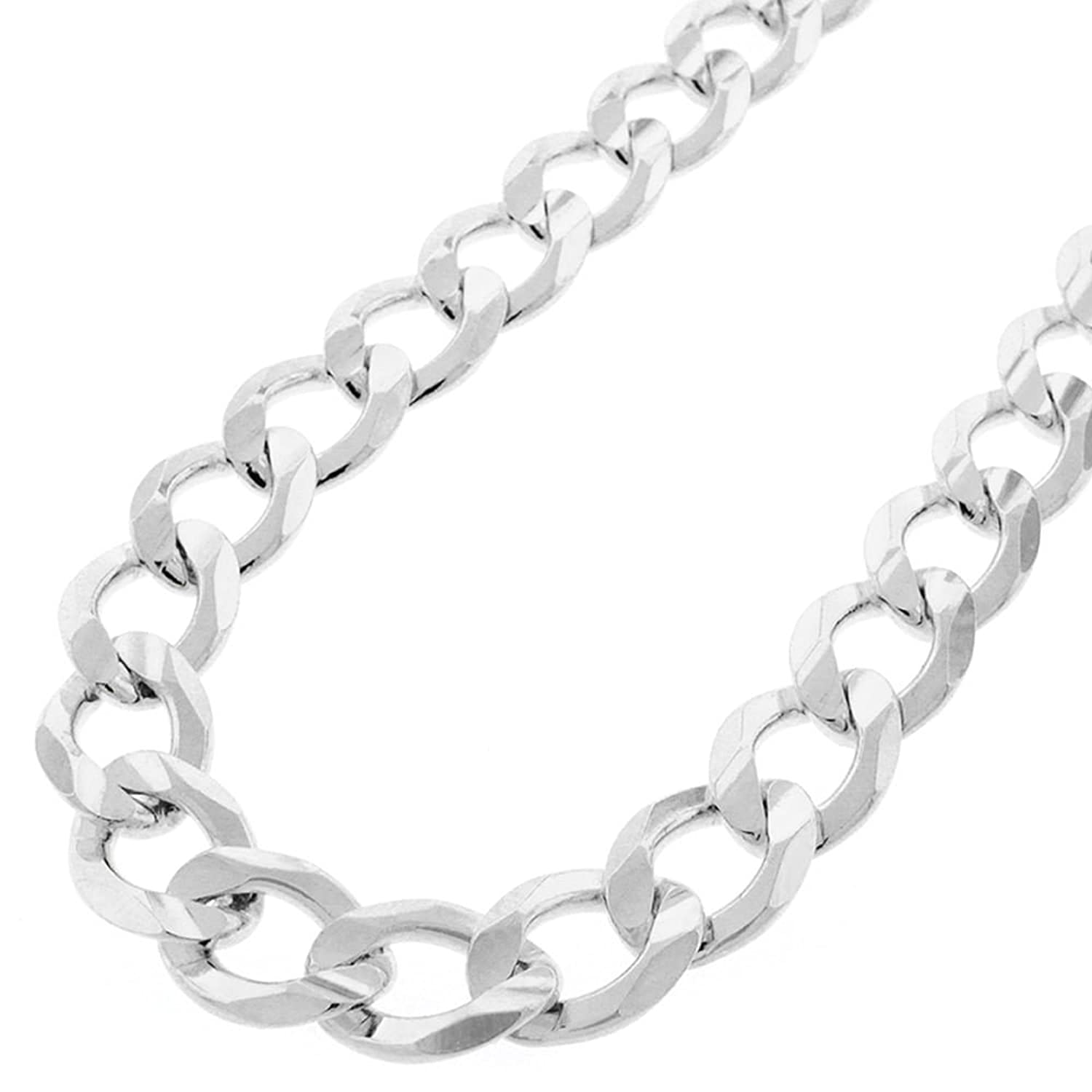 """Sterling Silver Italian 12mm Cuban Curb Link ITProlux Solid 925 Necklace Chain 24"""" - 30"""""""