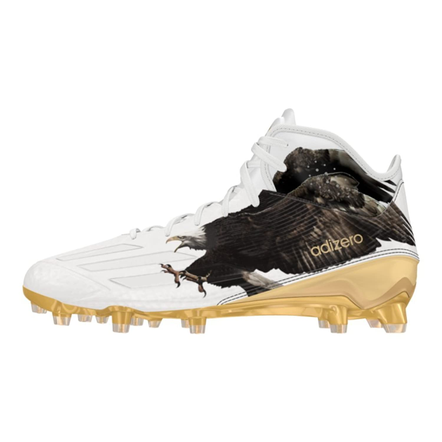 newest 25544 e5d48 low-cost Adidas Adizero 5Star 5.0 Uncaged Mid Mens Football Cleat 14 Eagle- White