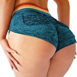 YOFIT Womens Ruched Butt Lifting Gym Shorts High