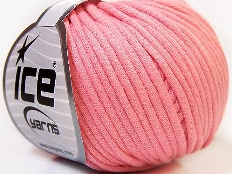 Lote de 8 madejas de hilos Tubo Algodón (70% algodón) mano tejer hilo rosa: Amazon.es: Juguetes y juegos