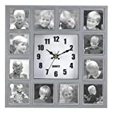 Sara D Ward Collection Photo Collage Hanging Wall Quartz Clock Picture Frame