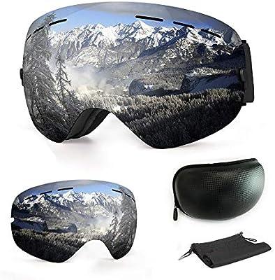 12b606d725 WLZP Gafas de esquí antiniebla con protección UV para Snowboard, esquí,  Skating y Otros Deportes de Nieve, con Lentes esféricas Intercambiables  Dobles, ...