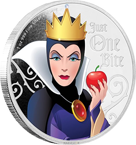 2018 NU Disney Villains: Evil Queen - 1 oz. Silver Coin - with all original Mint packaging $2 Brilliant Uncirculated ()