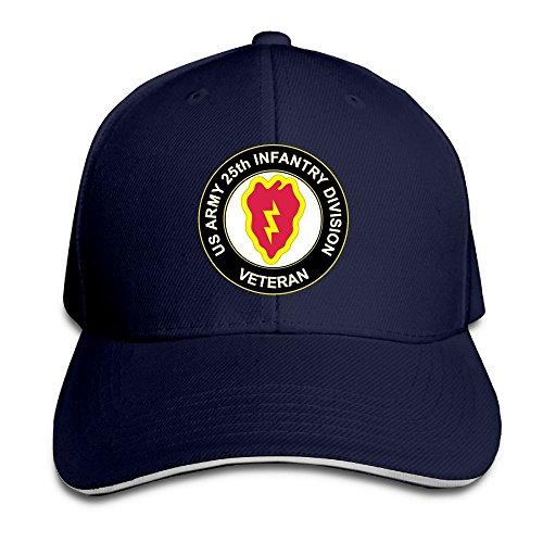- GENZHESI US Army Veteran 25th Infantry Division Adjustable Baseball Hat Dad Hats Trucker Hat Sandwich Visor Cap