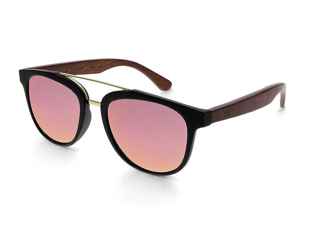 Gafas de sol de madera MOSCA NEGRA ® modelo MIX DOUBLE Red ...