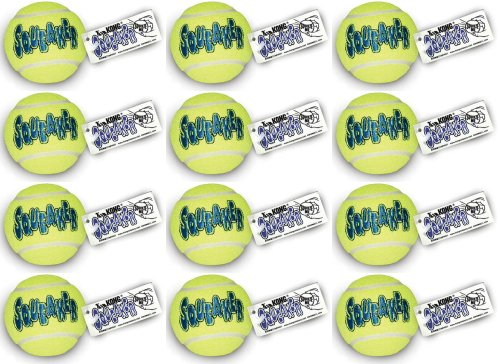 KONG Air Dog Squeaker Tennis Ball Large 12pk