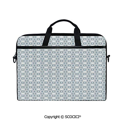 Portable Ultrabook Soft Sleeve Laptop Bag Case Cover Complex Optical Illusional Design with Vertical Nested Squares Chevron Zigzags Compatible with HP Dell Lenovo