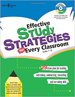 Effective Study Stategies for Every Classroom by Jeanne R. Mach Carol Meysenburg Johnson Rebecca Lash-Rabick Jacqueline Bode Frevert Suzann Morin-Steffen Jennifer Buth Bell (2008-02-25)