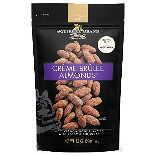 SQUIRREL BRAND Artisan Nuts, Creme Brulee Almonds, 3.5 oz (Pack of 6)