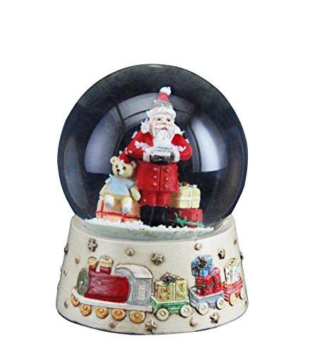 Snowglobe Decoration - Gisela Graham Christmas Decoration Santa With Toys Snowglobe