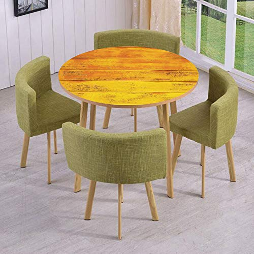 iPrint Round Table/Wall/Floor Decal Strikers,Removable,The Wooden Horizontal Background Texture from Oak Tree Timber Design for Lliving Decorative,for Living Room,Kitchens,Office Decoration