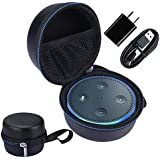 for Amazon Echo Dot 2 Case Travel Carry Pouch Sleeve Portable Protective Box Cover Bag fits for Amazon Echo Dot (2nd Generation)- can Accommodate the USB Cable and Charger (Blue)