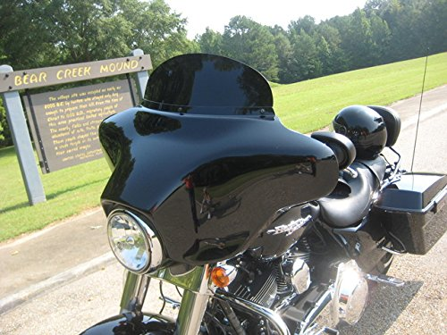 "Harley Davidson 8"" dark tint windshield for 1996-2013 Street Glide/Electra Glide/Ultra Classic/Tri-Glide, made of superior quality Makrolan 7135 polycarbonate"