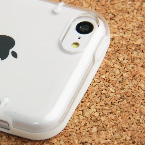 """iPhone 5C Hülle / Case / Cover in weiß mit transparenter Rückwand aus hochwertigem Polycarbonat im """"Bumper-Case-Style"""" -ORIGINAL nur von THESMARTGUARD-"""