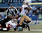 Carlos Hyde Autographed San Francisco 49ers 8x10 Photo (White vs Seahawks) JSA