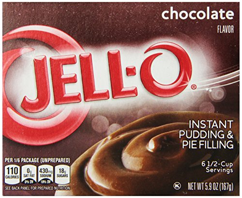 Fat Free Pudding (Jell-O Instant Pudding & Pie Filling, Chocolate, 5.9 oz)