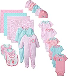 Gerber Baby-Girls Newborn Mommy Loves Me 19 Piece Gift Bundle Set, Pink, 0-3 Months