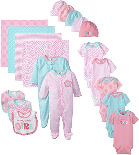 Gerber Baby-Girls Newborn Mommy Loves Me 19 Piece Gift Bundle Set