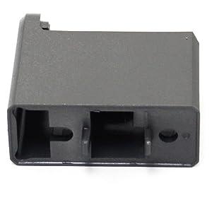 Samsung DA67-01267D Refrigerator Door Handle End Cap, Lower Genuine Original Equipment Manufacturer (OEM) Part