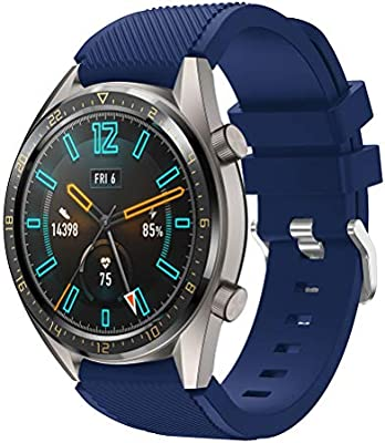 TMCCB Correa para Huawei Watch GT/Watch GT2 46mm Pulsera Banda-Silicona Reloj de Recambio Brazalete Correas para Huawei Watch GT/Watch GT2 46mm