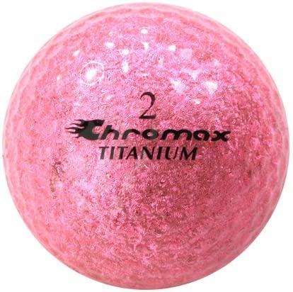 Golf Chromax M2 pelota rosa Glitery 3 pelotas manga: Amazon.es ...