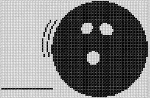 Bowling Ball Cross Stitch - Ball Cross Stitch