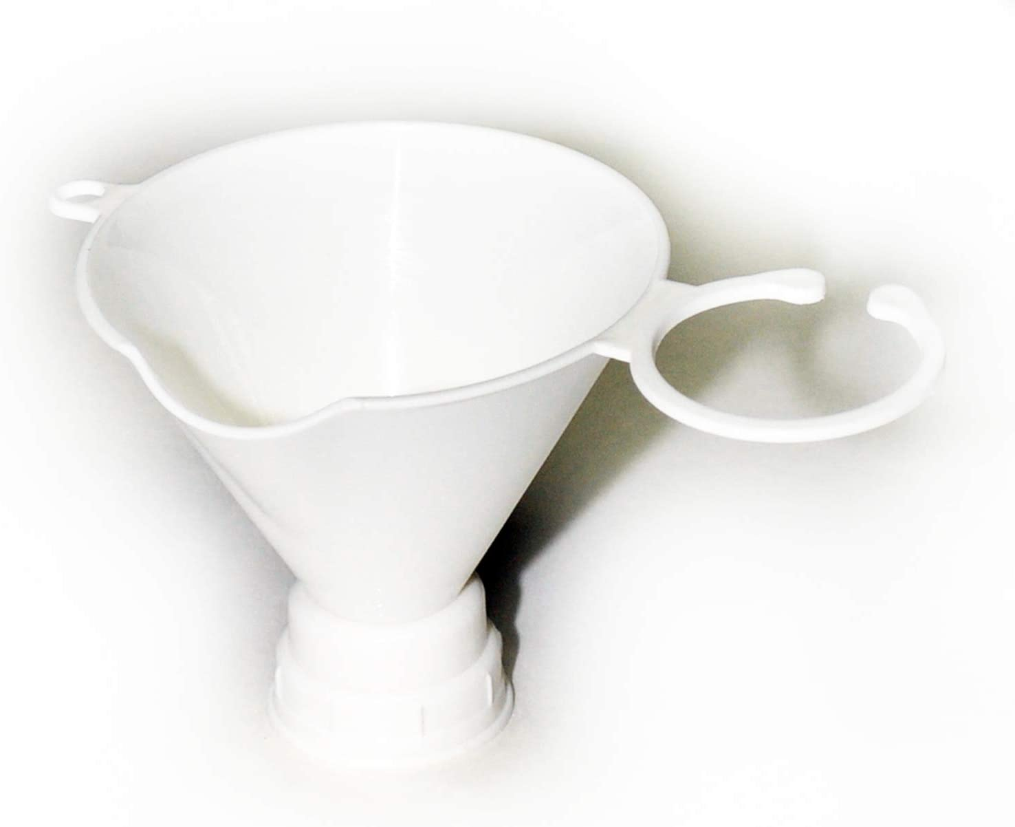 Gadjit Seed & Feed Funnel (Pack of 2) - Funnel Twists onto an Empty Plastic Soda Bottle, Designed for Filling a Soda Bottle with Bird Seed or Nectar (White) Get Ready for Spring Bird Feeding