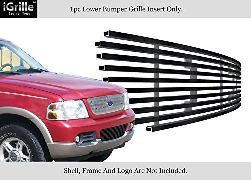 APS Compatible with 2002-2005 04 03 Ford Explorer Bumper Black Stainless Steel Billet Grille F85332J