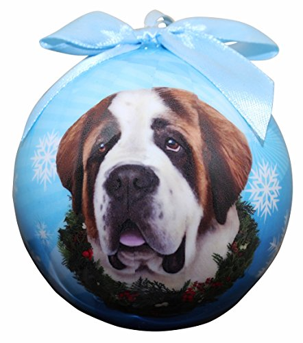 """Saint Bernard Christmas Ornament"" Shatter Proof Ball Easy To Personalize A Perfect Gift For Saint Bernard Lovers"