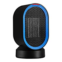 AIVANT Auto Oscillating Heater 600W PTC Ceramic Heater Portable Electric Heater Home Office Fan Heater Desktop Space Warmer for Winter